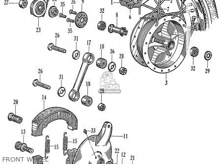 Honda C72 1960 1961 1962ii 1963 Dream 142592 Front Wheel