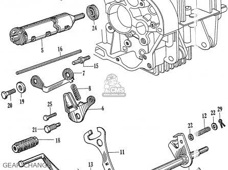 Honda C72 1960 1961 1962ii 1963 Dream 142592 Gear Change