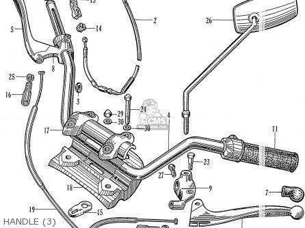 Honda C72 1960 1961 1962ii 1963 Dream 142592 Handle 3