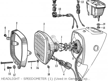 Honda C72 1960 1961 1962ii 1963 Dream 142592 Headlight - Speedometer 1 used In General Export