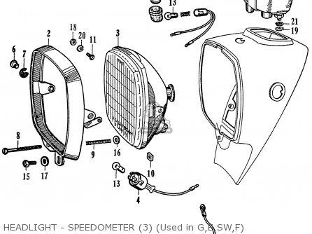 Honda C72 1960 1961 1962ii 1963 Dream 142592 Headlight - Speedometer 3 used In G e sw f