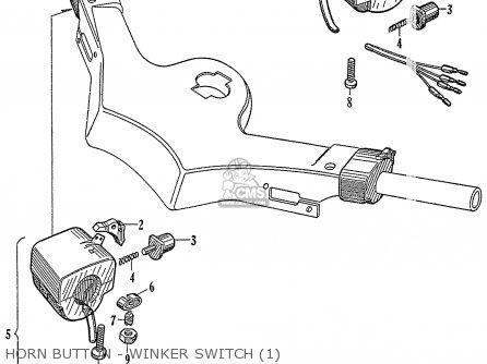 Honda C72 1960 1961 1962ii 1963 Dream 142592 Horn Button - Winker Switch 1
