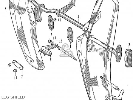 Honda C72 1960 1961 1962ii 1963 Dream 142592 Leg Shield