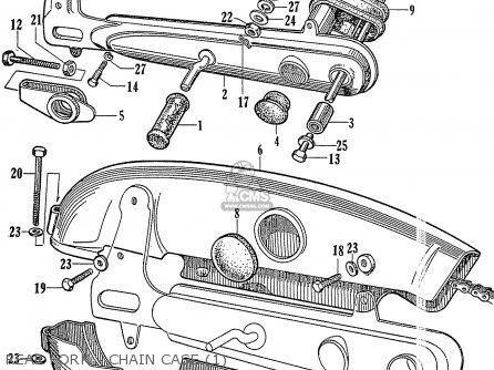Honda C72 1960 1961 1962ii 1963 Dream 142592 Rear Fork - Chain Case 1