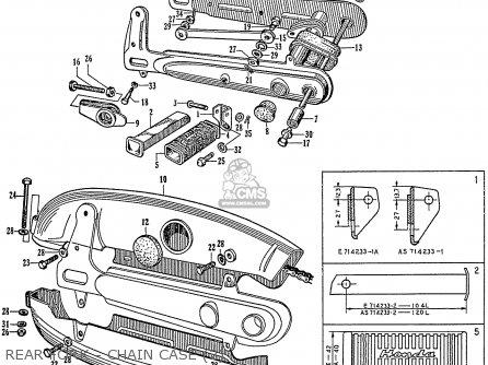 Honda C72 1960 1961 1962ii 1963 Dream 142592 Rear Fork - Chain Case 2