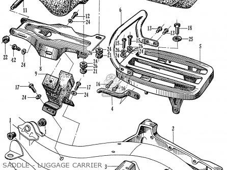 Honda C72 1960 1961 1962ii 1963 Dream 142592 Saddle - Luggage Carrier