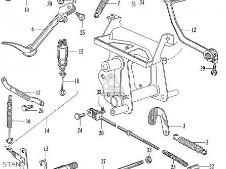 Honda C72 1960 1961 1962ii 1963 Dream 142592 Stand
