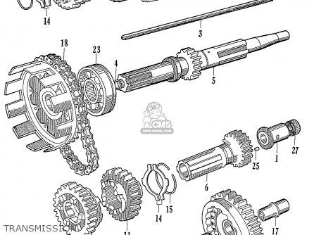 Honda C72 1960 1961 1962ii 1963 Dream 142592 Transmission