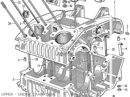 Honda C72 1960 1961 1962ii 1963 Dream 142592 Upper - Under Crankcase