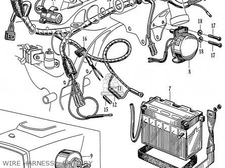 Honda C72 1960 1961 1962ii 1963 Dream 142592 Wire Harness - Battery