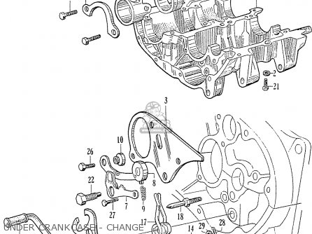 Honda C75 C76 Cs76 Dream general Export Model Under Crankcase - Change