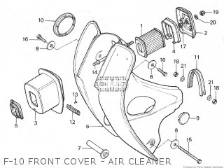 Honda C86z 1979 z Cub Malaysia F-10 Front Cover - Air Cleaner