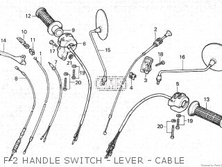 Honda C86z 1979 z Cub Malaysia F-2 Handle Switch - Lever - Cable
