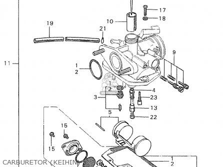 Honda C90 Cub England Carburetor keihin