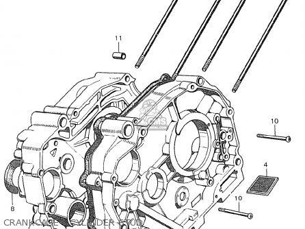 Honda C90 Cub England Crankcase - Cylinder Stud