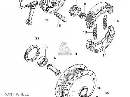 Honda C90 Cub England Front Wheel