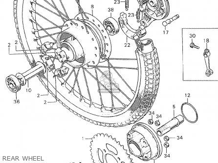 Honda C90 Cub England Rear Wheel