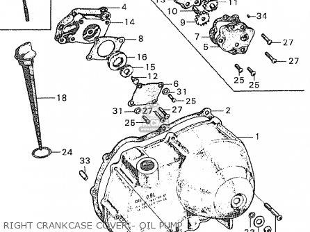Honda C90 Cub England Right Crankcase Cover - Oil Pump