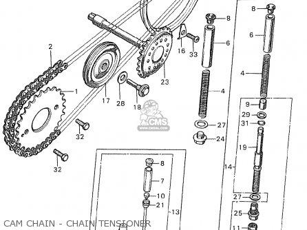 Honda C90 england Cam Chain - Chain Tensioner