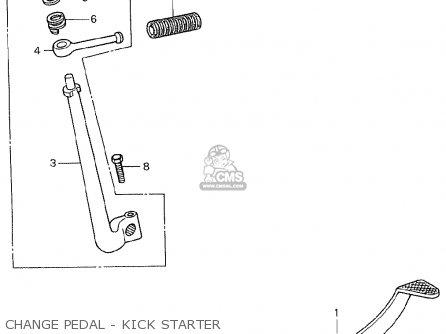 Honda C90 england Change Pedal - Kick Starter