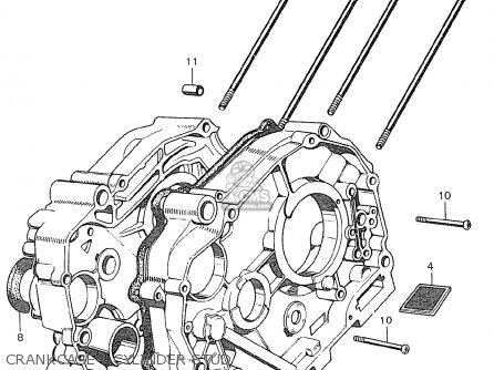 Honda C90 england Crankcase - Cylinder Stud