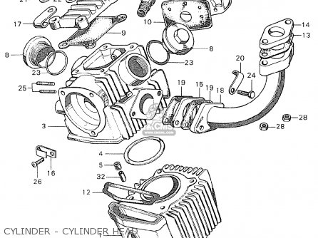 Honda C90 england Cylinder - Cylinder Head