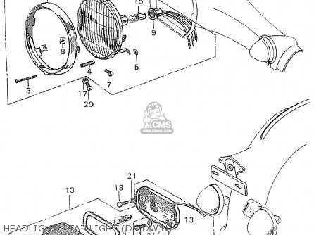 Honda C90 england Headlight - Taillight ds dw u