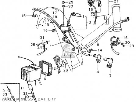 Honda C90 england Wire Harness - Battery