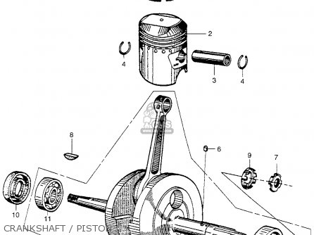 Honda Ca100 1962 Usa Crankshaft   Piston