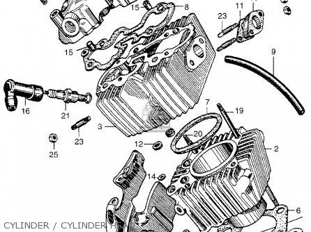 Honda Ca100 1962 Usa Cylinder   Cylinder Head