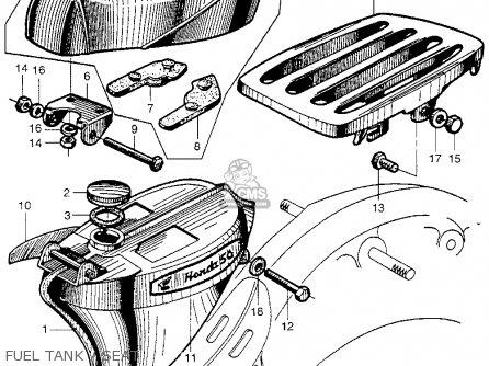 Honda Ca100 1962 Usa Fuel Tank   Seat