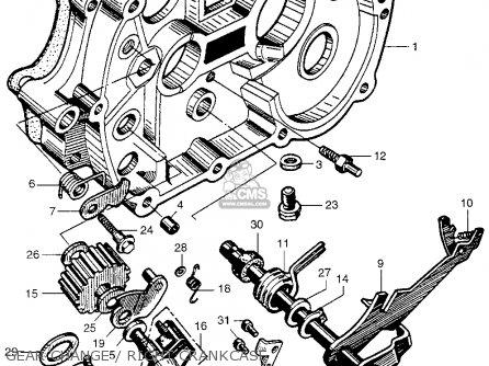 Honda Ca100 1962 Usa Gear Change   Right Crankcase