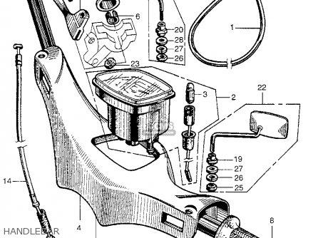 Honda Ca100 1962 Usa Handlebar