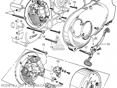 Honda Ca100 1962 Usa Points   Left Crankcase Cover