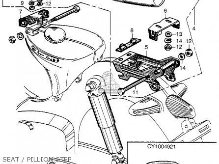 Honda Ca100 1962 Usa Seat   Pillion Step