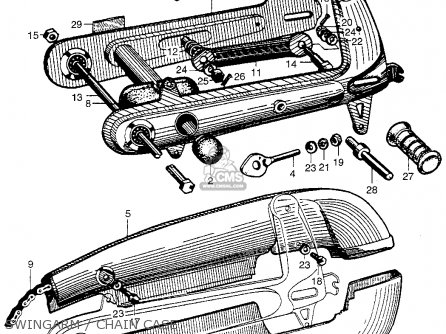 Honda Ca100 1962 Usa Swingarm   Chain Case