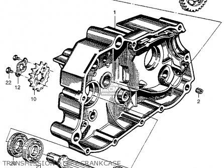 Honda Ca100 1962 Usa Transmission   Left Crankcase