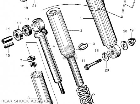 Honda Ca102 Honda 50 Usa Rear Shock Absorber