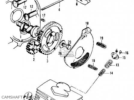 Honda Ca105t Trail 1963 Usa Camshaft   Valve