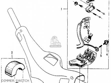 Honda Ca105t Trail 1963 Usa Dimmer Switch