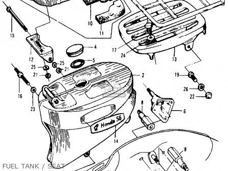 Honda Ca105t Trail 1963 Usa Fuel Tank   Seat