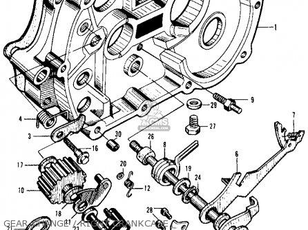 Honda Ca105t Trail 1963 Usa Gear Change   Right Crankcase