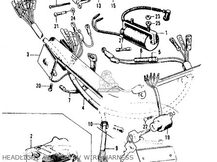 Honda Ca105t Trail 1963 Usa Headlight   Battery   Wire Harness