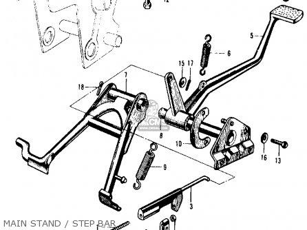 Honda Ca105t Trail 1963 Usa Main Stand   Step Bar