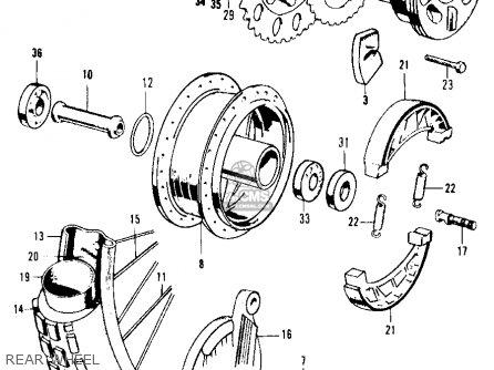Honda Ca105t Trail 1963 Usa Rear Wheel