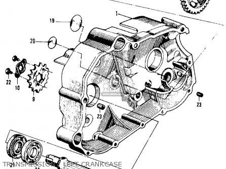 Honda Ca105t Trail 1963 Usa Transmission   Left Crankcase