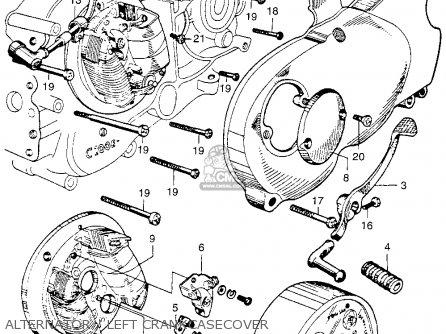 Honda Ca110 1962 Usa Alternator   Left Crankcasecover
