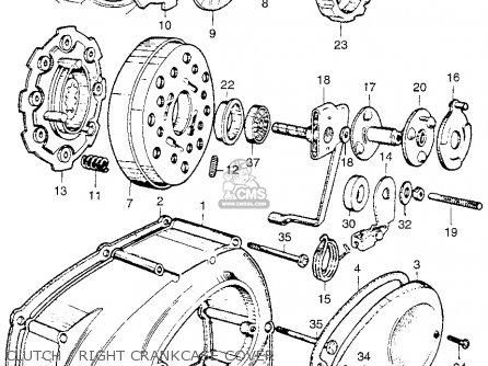 Honda Ca110 1962 Usa Clutch   Right Crankcase Cover