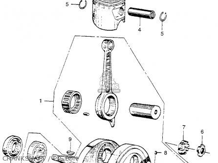 Honda Ca110 1962 Usa Crankshaft   Piston
