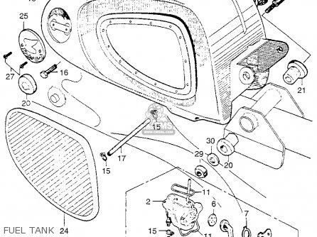Honda Ca110 1962 Usa Fuel Tank